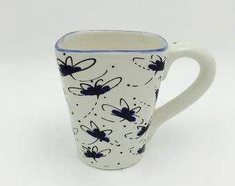Dragonfly Mugs, Sea, Turtle, Coffee, 12 oz, Handmade By Sara Hunter