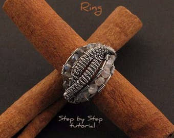 Ethnic Ring - Step by Step wire-wrapping tutorial - instant download