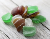 Bulk sea glass - Drilled sea glass -  Sea glass crafts - Beach glass for jewelry making -  Sea glass Charms - Gift for beach lover