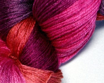 Finch in Hand Dyed Poet Seat Fingering Weight Superwash Merino and Silk Yarn