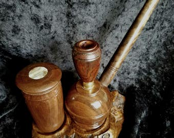 SOLD!!!...Smoking pipe set, Claro walnut burl, SOLD!!