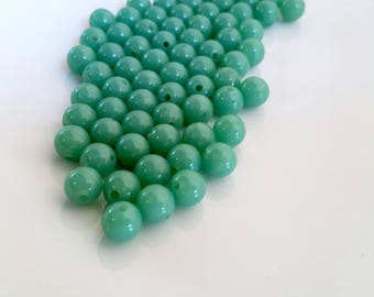 Green Beads 8mm set of 70+ pieces