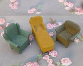 Vintage Doll House Miniature Chair Chaise Tootsie Toy