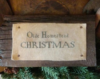 pRiMiTiVe - oLde HomeSTead ChrisTmaS  - EaRLy LoOk CrOsS sTiTcH -WoW -
