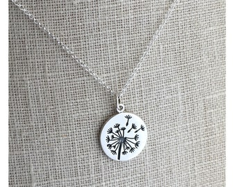 Dandelion Necklace Wish Necklace   bridesmaid necklace   bridesmaid gift   Make a Wish   Gift for Daughters   Sister Gift Gift From Daughter