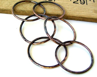 Hand Forged Copper Links - 23mm
