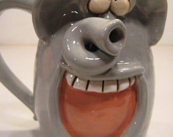 Happy Elephant Mug         ................          A94