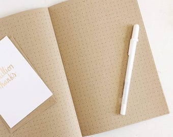 kraft dot grid notebook