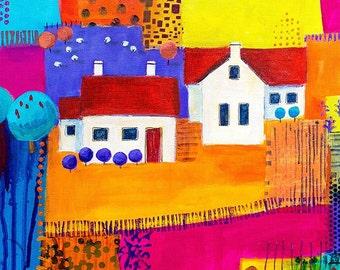 Printed fabric house panel 3