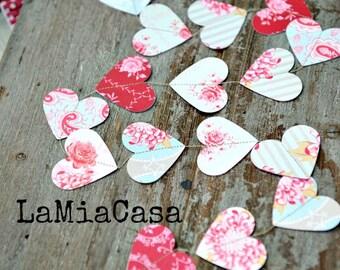 Valentine Garland, Valentines Day Decor, Heart Garland, Valentine  Decorations, Valentines Day,