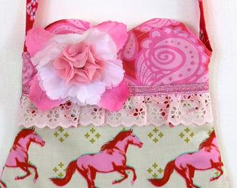 SALE Wild Horses Purse, mustang  Purse, toddler purse, girls purse