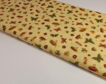 Butterfly Fabric, Cotton Fabric, Makower Fabric, Quilting Fabric By The Yard, Fabric By The Yard Cotton, Metallic Fabric, Butterflies, Quilt