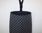Car Litter Bag // Auto Litter Bag // Auto Trash Bag // Stay Open Design! // Gray And Black Tiles