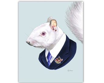 Albino Squirrel print 8x10