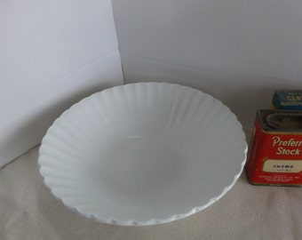 White Ironstone Vegetable Bowl JG Meakin Classic White 8 Inch