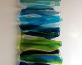 Handmade Fused Glass Wall Art / Home Decor / Glass Art - free colour choices (Made to Order)