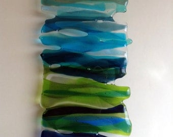 Glass Wall Art / Wall Hanging / Glass Decoration / Glass Art Work / Home Decor / Fused Glass Art - free colour choices (Made to Order)