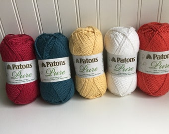 Patons Organic Cotton Yarn 2 Skeins-- Tomato orange color