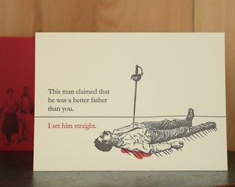 Set Straight - letterpress Father's Day card