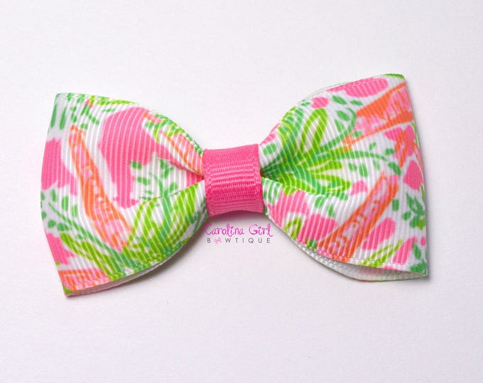"""Nibbles ~ 3"""" Hair Bow Tuxedo Bow ~ Lilly Inspired ~ Simple Bow ~ Boutique Bow for Babies Toddlers ~ Girls Hair Bows"""