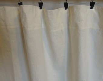 Ready-Made Hemp/Tencel Pocket Top or Flat Top Curtains, Window Coverings, Organic, 78x84