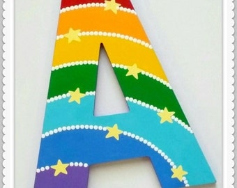 Playroom Letters, Play, Dream, Read, Wooden Letters, Wall Decor, Painted Wooden Words, Inspirational Letters, Rainbow, Priced Per Letter