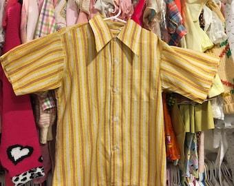 1960s Boys Shirt 10/12
