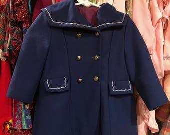1960s Sailor Coat 2/3T