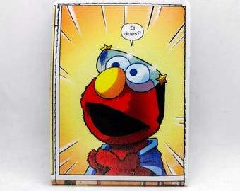 Sewn Comic Book Wallet - Sesame Street - Elmo