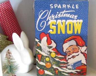 Let It Snow..Amazing Vintage Box of Mica Flakes for Christmas