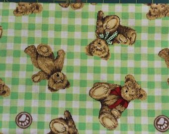 Boyds Bears teddy bear  100% cotton fabric