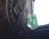 Green Fluorite Heart Chakra Necklace