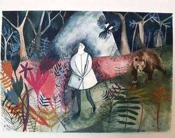 Mr Magpie - Giclee print
