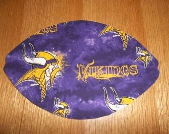Mouse Pad, NFL, Minnesota Vikings, MousePads, Mouse Mat, Office Accessories, Office Decor,  Desk Accessories, Handmade, Football Shape, Gift