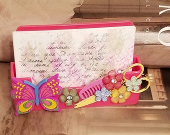 Gypsy Stylist/Butterfly HairStylist Business Card Holder