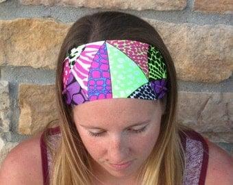 Neon Animal Print Sport Headband / Running Headband / Leopard Zebra Giraffe Stretch Headband/ Comfortable Hairband/ Best Selling Headband