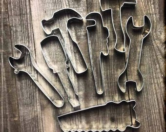 Set of 7 Tool Metal Cookie Cutters #NAWK31