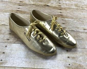 Vintage 1990s 1995 LA Gear Gold Shoes Womens Size 8