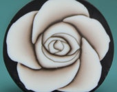 Polymer Clay Antiqued White Rose Cane -'Intricacies of the Heart' (20A)