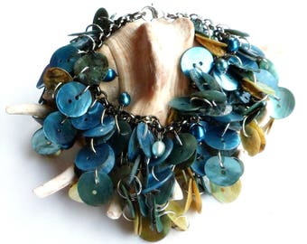 Pearls and Shell Mermaid Bracelet
