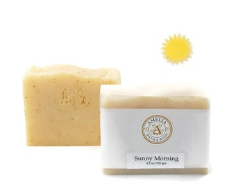 Sunny Morning Soap | All Natural Soap, Cold Processed Soap, Vegan Soap, Citrus Soap, Gift Soap, Fresh Start, Essential Oil Soap, Gift Idea
