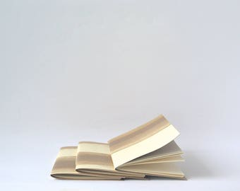 Cream and Gold Painted Soft Cover Notebook, Hand Bound Journal, Bridesmaids Gifts