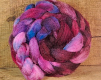 Hand Dyed Ryeland Wool Sliver - 'Ominous'