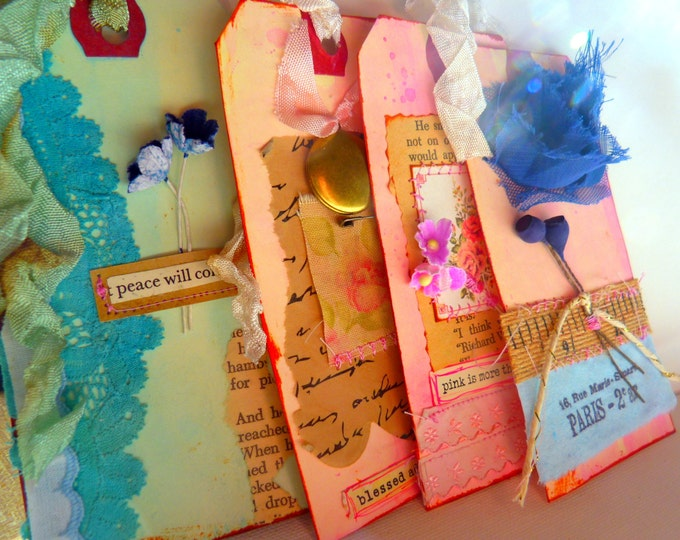 Gift tag - handmade, Blue, Creativity