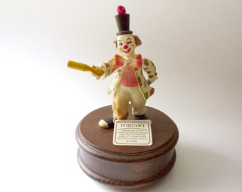 "Vintage Anri Toriart Juggling Clown Music Box Plays ""CABARET"" w/Original Tag"