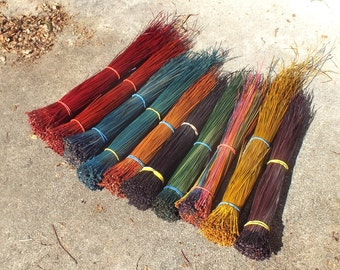 Reserved for TC Dyed Pine Needles 7 Bundles for Coiled Basketry Pine Needle Basket Supply