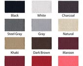 """Cotton Webbing - 5 Yards - 1.25"""" Medium Heavy Weight for Key Fobs, Purse Straps, Belting - SEE COUPON"""