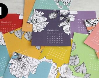 SALE - 2017 Desk Calendar Cards – NO EASEL – Choose Your Design