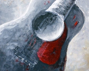 Giclee Print Guitar Art Classical guitar Music Instruments by RSalcedo FFAW Free Shipping