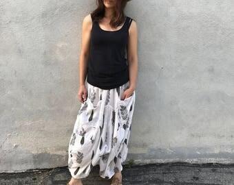 Super fine floral blockprint voile skirt